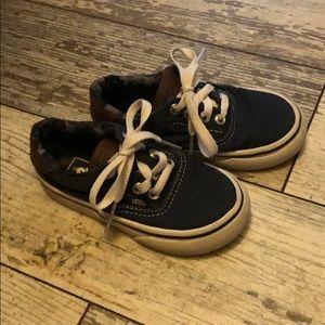 Vans blue toddler shoes